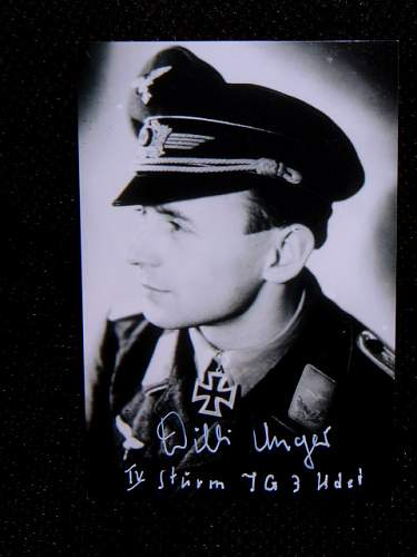 Willy Unger JG3 Ritterkreuztrager !!