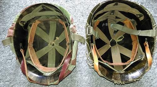 Bundeswehr steel helmets.