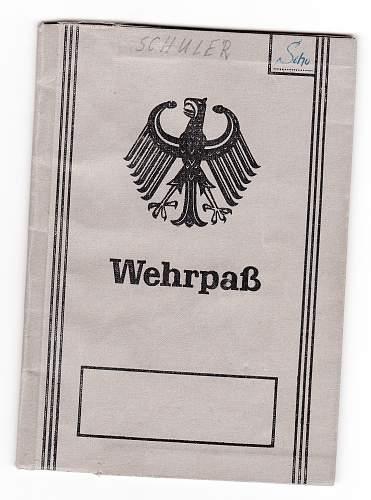 Bundeswehr issue Wehrpass