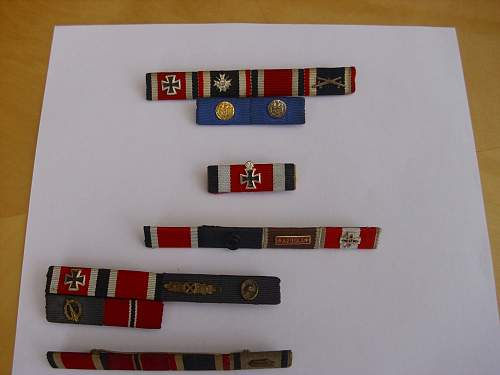 Some 57er ribbon bars...........