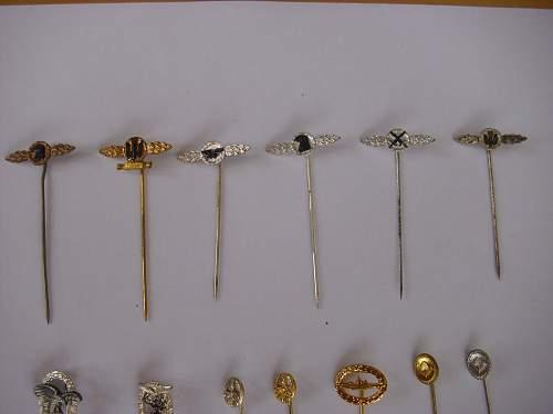 Some 57er mini stick pins..............