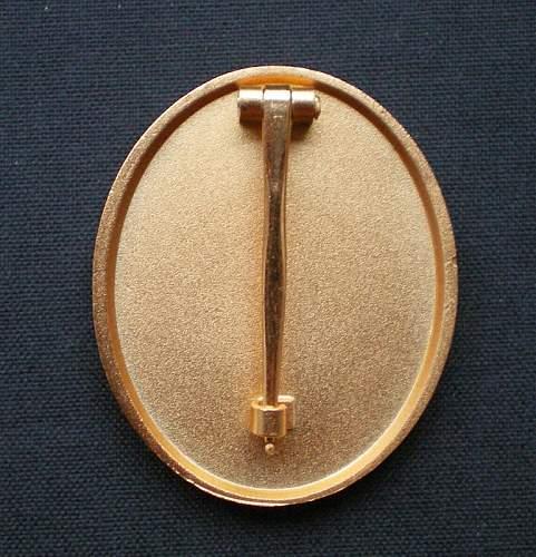 1957er Verwundetenabzeichen in Gold