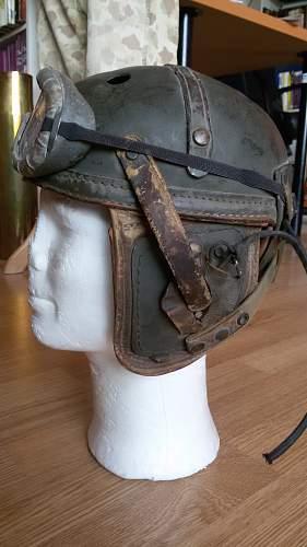 West German USAEURO tanker helmet