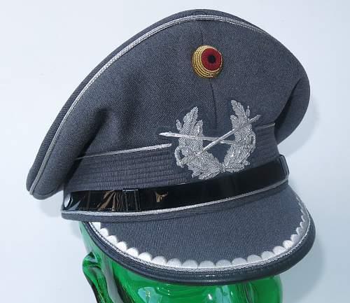 Click image for larger version.  Name:Bundeswehr junior officer Heer visor cap 001.jpg Views:68 Size:221.8 KB ID:953162