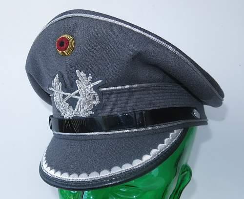 Click image for larger version.  Name:Bundeswehr junior officer Heer visor cap 002.jpg Views:42 Size:221.3 KB ID:953163