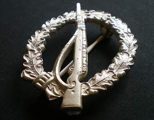 1957er Infanterie-Sturmabzeichen in Silber