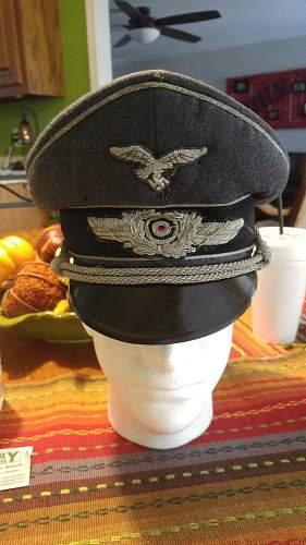 Luftwaffe officer visor cap authenticity