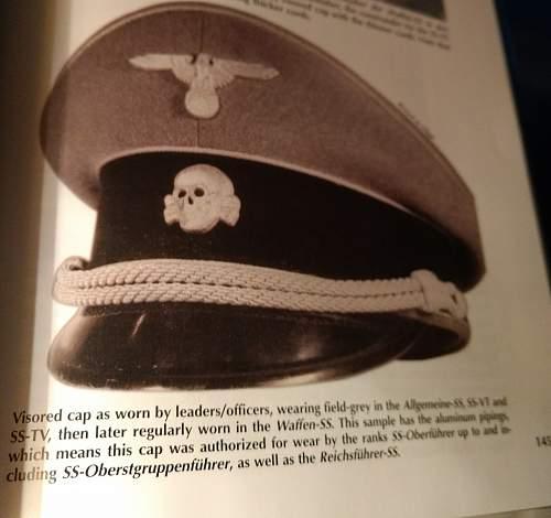 SS visor cap help ID
