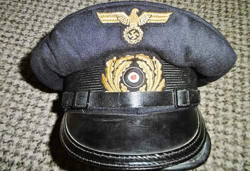Original or fahe German Navy visor hat ? Kriegsmarine schirmmutze