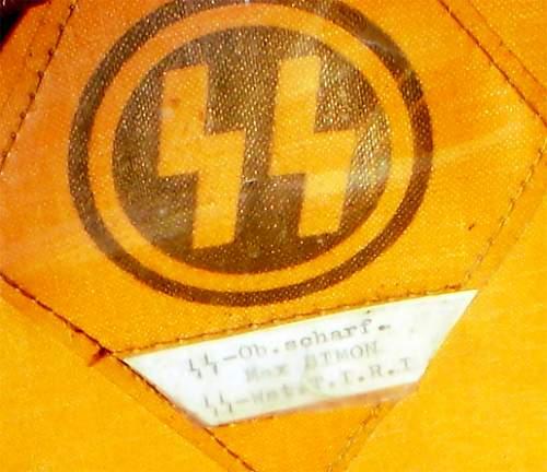 Allgemeine SS black nco's schirmutze?