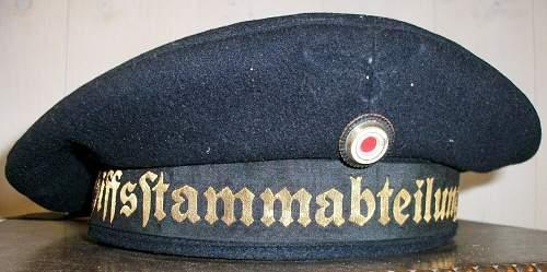 Kriegsmarine tellermutze. Urgently want to see this !