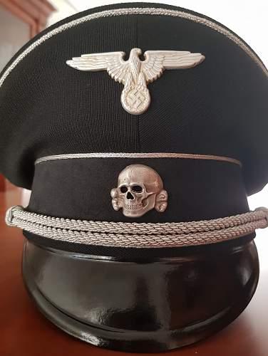 Black SS General's visor cap