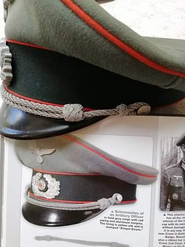 Artillery officer visor cap genuine?