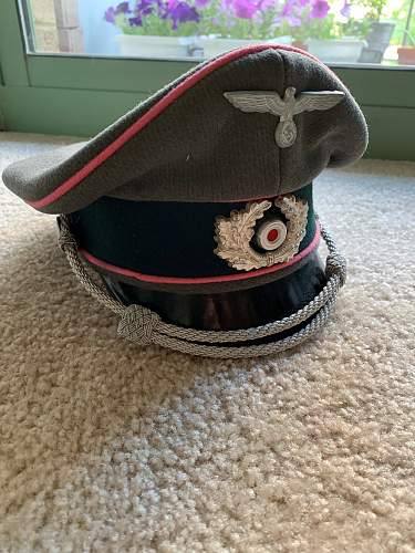 WWII German Panzer Corps Officer's Visor Cap