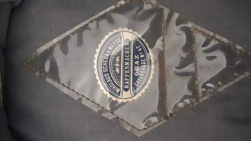SS officers visor.Private purchase.Austrian made.