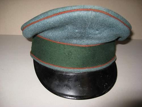 Possible German WWII Artillery cap