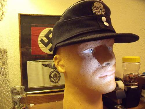 ss-panzer officer's M43 cap..Tell me what you think!