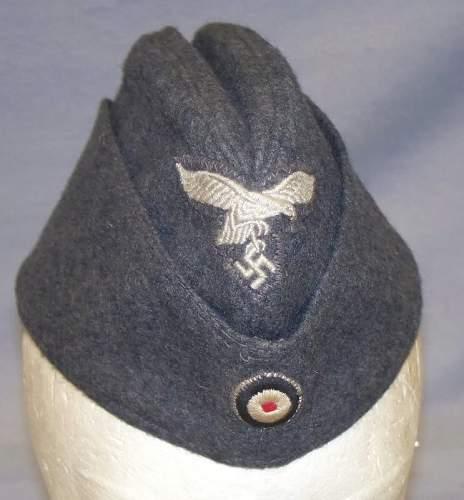 on Luftwaffe side cap!!!!