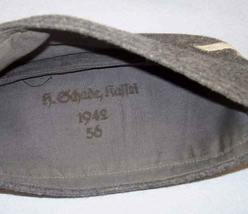 Click image for larger version.  Name:LuftwaffeEMOverseasCap-ExcellentWornCondition-MakerStampedDated19423.jpg Views:159 Size:152.4 KB ID:180569