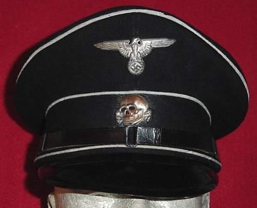 Black SS NCO Schirmmutze by Heinrich Wille