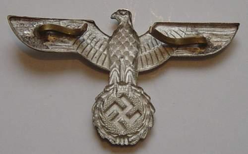 German infantry NCO's peaked cap, real or fake.