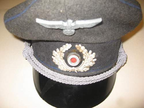 German Wehrmacht Visor Cap