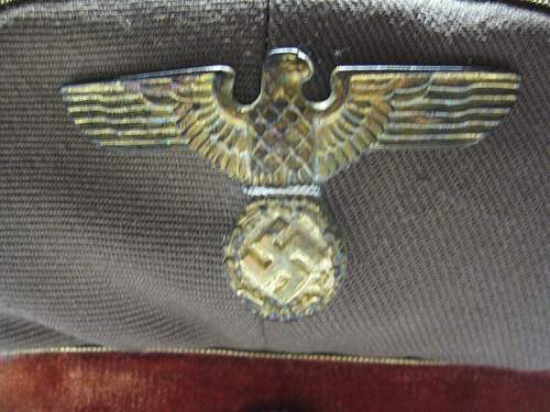 Click image for larger version.  Name:NSDAP Schirmmutze 001.jpg Views:68 Size:80.9 KB ID:250711