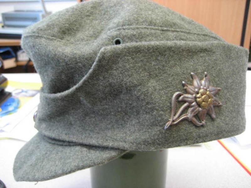 Ww2 German Mountain Troop Field Cap Good Bad