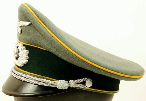 Heer Officers Schirmutze