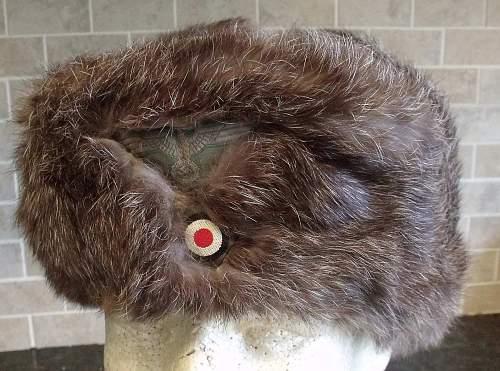 Wehrmacht Issue Winter Rabbit Fur Cap