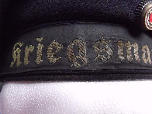 Click image for larger version.  Name:Kriegsmarine hat 002.JPG Views:185 Size:172.3 KB ID:380179