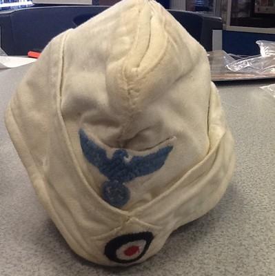 RARE kriegsmarine summer side cap REAL? or NOT real? blue bird?