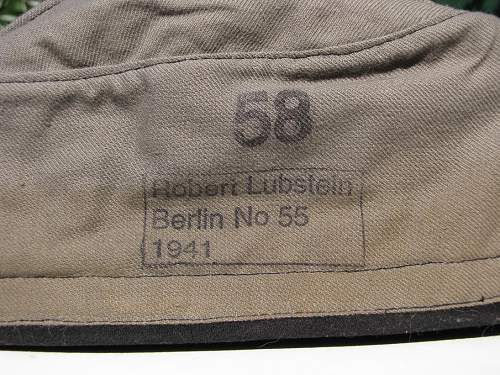 Panzer Overseas cap (schiffchen) Real or fake?