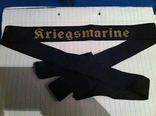 Help needs on kriegsmarine tally fake or real