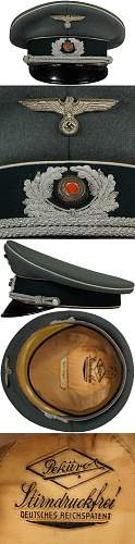 Heer Infanterie Officers Schirmmutze: Fake or real?