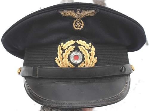 Kriegsmarine NCOs Visor Cap