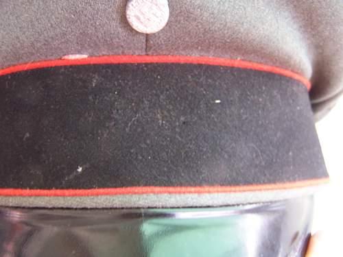 SS Artillerie visor hat?