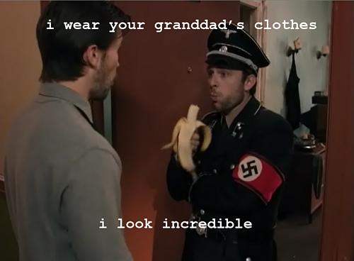 German war hat.