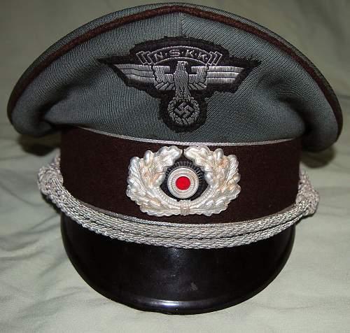 NSKK Officer visor cap