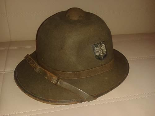 My Latest Addition-German Tropical Pith Helmet
