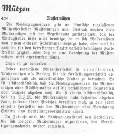 Reichsleitung visor cap