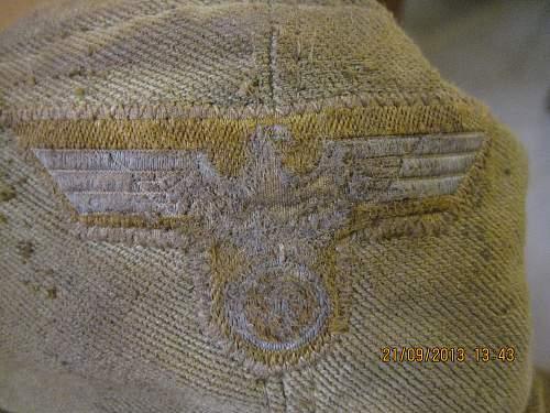 Afrika Korps cap found in Crete...