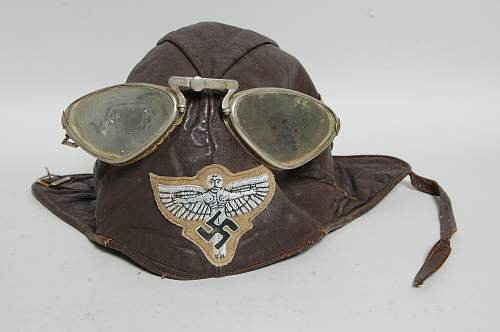 What is this? Leather MC Helmet