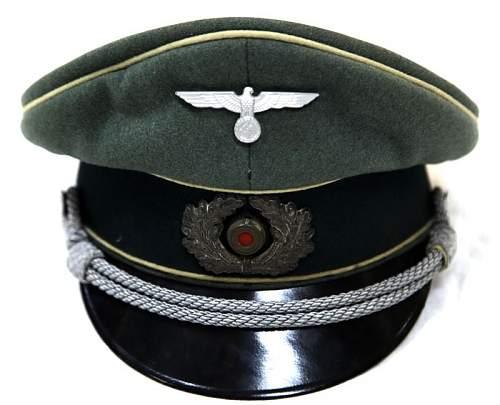 Heer infantry officer's visor