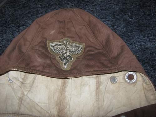german motorbikers cloth hat with badge?