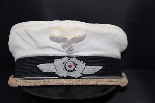 LW White visor hat ....ok?