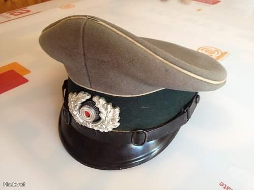 Wehrmacht Heer EM Visor Cap, real or fake?