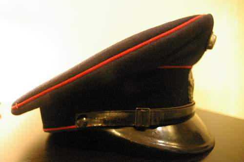Feuerschutzpolizei NCO visor cap