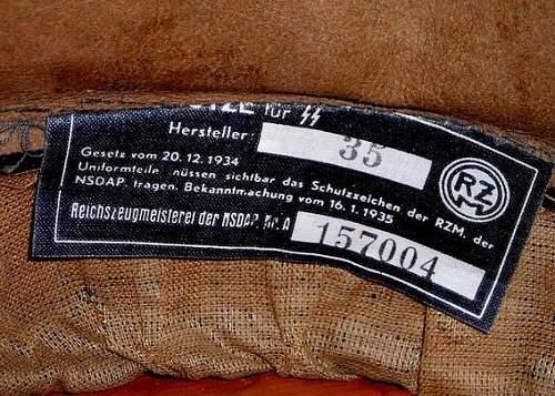 Waffen SS Officer Visor Cap?
