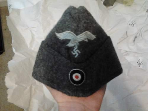 Luftwaffe Side Cap - Gray Wool Size 55